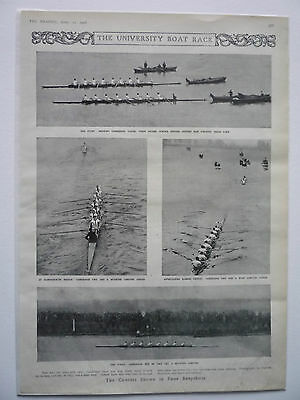 ". "" The University Boat Race."" 1908 Rare."
