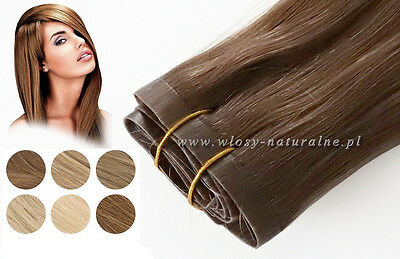 Clip In tape European Remy Human Hair Extensions 20""