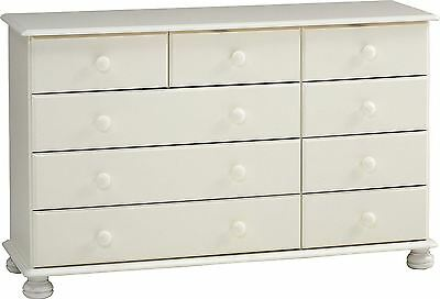 Richmond 2+3+4 (9) drawer wide chest in white
