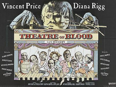 """THEATRE OF BLOOD 1973 16"""" x 12"""" Reproduction Movie Poster Photograph"""