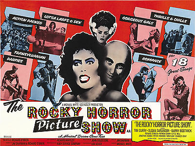 """Rocky Horror Picture Show 1975 16"""" x 12"""" Reproduction Movie Poster Photograph"""