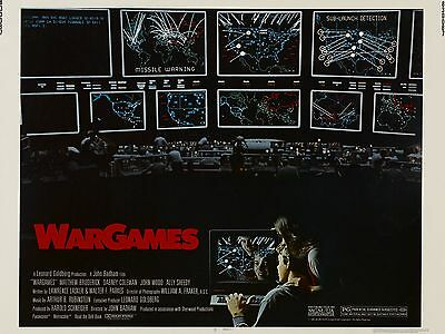 """Wargames 16"""" x 12"""" Reproduction Movie Poster Photograph"""