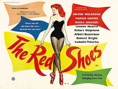 "The Red Shoes 1948 16"" x 12"" Reproduction Movie Poster Photograph"