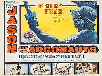 """Jason and the Argonauts 16"""" x 12"""" Reproduction Movie Poster Photograph"""