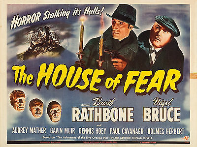 """Sherlock Holmes House Fear 16"""" x 12"""" Reproduction Movie Poster Photograph"""