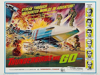 """Thunderbirds are Go 1966 16"""" x 12"""" Reproduction Movie Poster Photograph 3"""