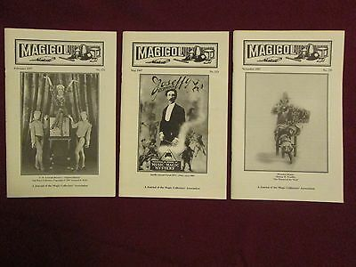 Magicol - A Journal of the Magic Collectors Association - Issues 122, 123, & 125