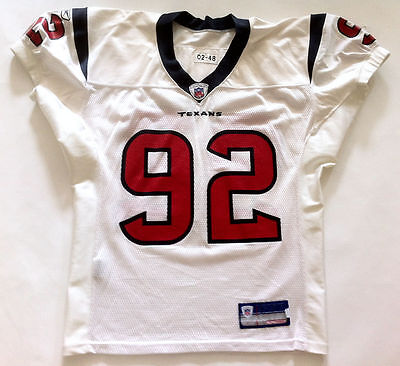 2002 NFL Houston Texans Corey Sears Authentic Practice Game Worn Jersey Size 48
