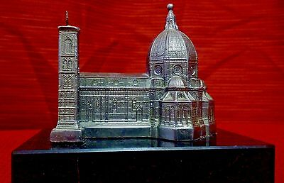 Metal Florence Cathedral with Campanile souvenir building  Italian marble