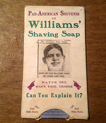 1901 Pan-American Expo Souvenir of Williams' Shaving Soap, Changing Face Puzzle