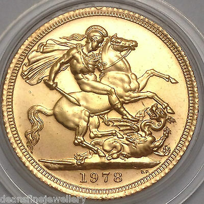 1978 Gold FULL Sovereign Queen Elizabeth II DECIMAL PORTRAIT