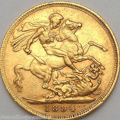 1894 M  Gold Full Sovereign Queen Victoria OLD HEAD  MELBOURNE  Mint