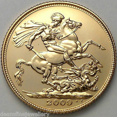 2009  Gold FULL Sovereign Queen Elizabeth II OLD HEAD