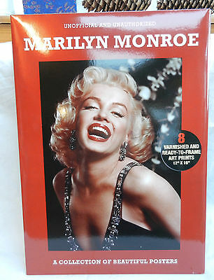 Marilyn Monroe - Pack 8 Varnished Iconic Art Prints / Posters - New