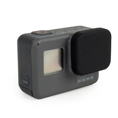 Housing Lens Cap fits GoPro Hero5 HERO 5 6 Protective Soft Silicone Cover black