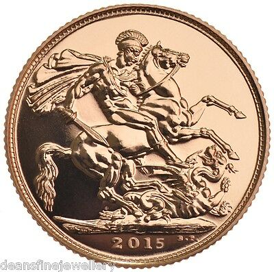 2015  Gold FULL Sovereign Queen Elizabeth II OLD HEAD