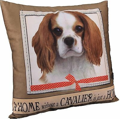Cavalier King Charles Spaniel Soft Couch Dog Breed Throw Pillow