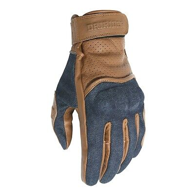 Dririder Gas motorcycle cafe racer gloves brown size L large