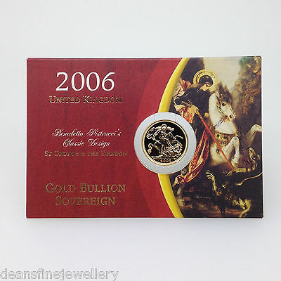 2006  Gold FULL Sovereign Queen Elizabeth II OLD HEAD (Carded)