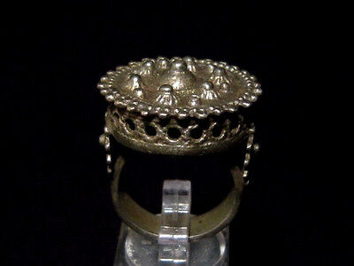MAGNIFICENT, ANTIQUE HUGE SILVER RING, known as REX RING, circa 1800's!!!