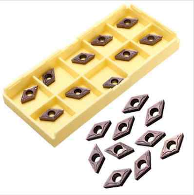 10pcs DCMT0702 EM YBC205 Carbide Insert Turning Tool Holder Inserts For Stainles