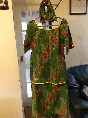 Stunning Traditional African Women/ladies 3Piece  Outfit (Top & Skirt)
