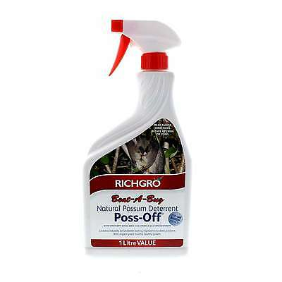 Beat A Bug Poss-Off Possum Deterrent Natural Bittering Ready To Use Richgro 1L