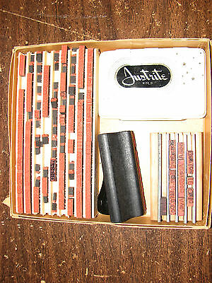Vintage Rubber Stamp Printing Set Justrite office outfit size O
