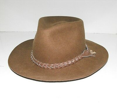 "Stockman Felt Hat made By The Great Australian Hat Co As New "" Size Small"""