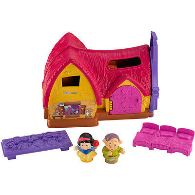 Fisher-Price Little People Snow White's Cottage - Disney Princesses Play Set, BN