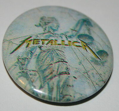 Metallica Justice For All Original Vintage Button Badge Buy More Pay P&P For One