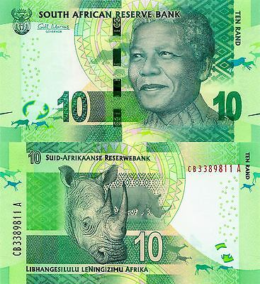 SOUTH AFRICA 10 Rand R10 Nelson Mandela Uncirculated New Omron UNC Banknote