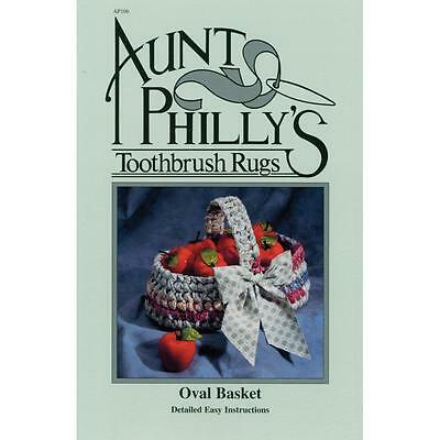 Aunt Philly's Toothbrush Rugs Oval Basket Pattern (AP106)