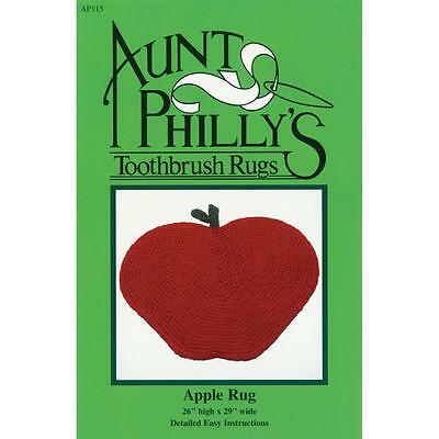 Aunt Philly's Toothbrush Rugs Apple Rug Pattern (AP115)