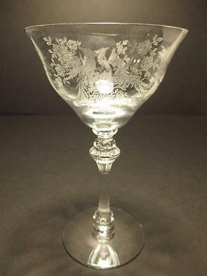 """Tiffin Persian Pheasant Pattern 6 1/2"""" Champagne Goblet(s)"""