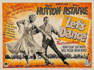 """Lets Dance 1950 16"""" x 12"""" Reproduction Movie Poster Photograph"""