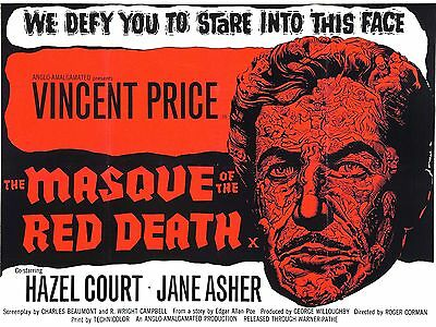 """Masque of the red death 16"""" x 12"""" Reproduction Movie Poster Photograph"""