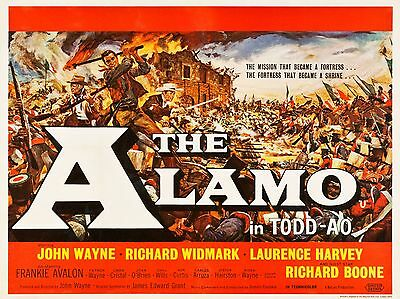 """The Alamo 1960 16"""" x 12"""" Reproduction Movie Poster Photograph 2"""