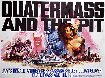 """Quatermass and the Pit 1967 16"""" x 12"""" Reproduction Movie Poster Photograph"""