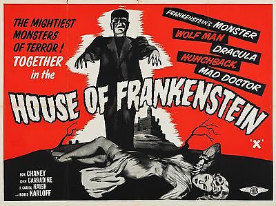 """House of Frankenstein 16"""" x 12"""" Reproduction Movie Poster Photograph"""