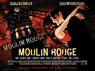 """Moulin Rouge 16"""" x 12"""" Reproduction Movie Poster Photograph"""