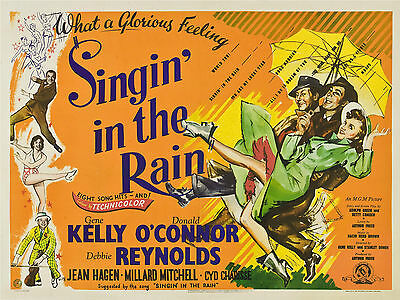 """Singin in the Rain 1952 16"""" x 12"""" Reproduction Movie Poster Photograph"""
