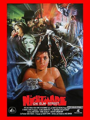 """Nightmare on Elm Street 1984 16"""" x 12"""" Reproduction Movie Poster Photograph 4"""