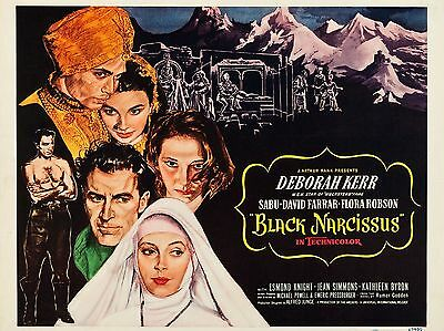 """Black Narcissus 16"""" x 12"""" Reproduction Movie Poster Photograph"""