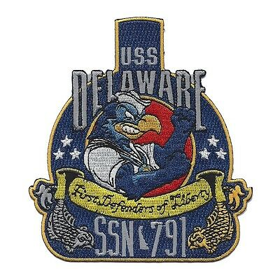 USS DELAWARE SSN-791 Virginia Class Nuclear Powered Submarine Military Patch