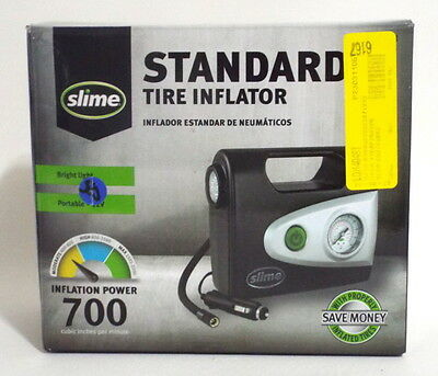Slime Standard Tire Inflator With Light 700 Inflation Power 12 Volt Portable