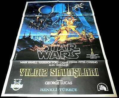 1977 Star Wars ORIGINAL TURKISH POSTER George Lucas Hildebrant Artwork RARE