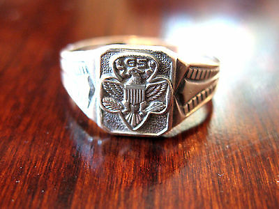 1960s Girl Scout Sterling Silver Ring Eagle Logo 2 Sizes Adjustable GIFT