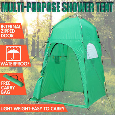 Camping Shower Toilet Tent Outdoor Change Room Shelter Ensuite Zipper Tanning AU