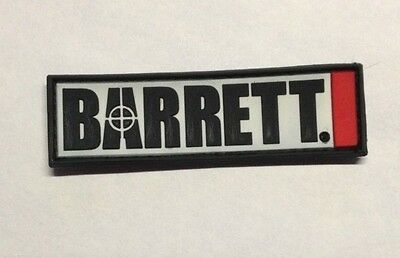 Barrett Firearms Logo Pvc Velcro Patch Gun 50Bmg Rifle Ar Tactical Decal Mrad